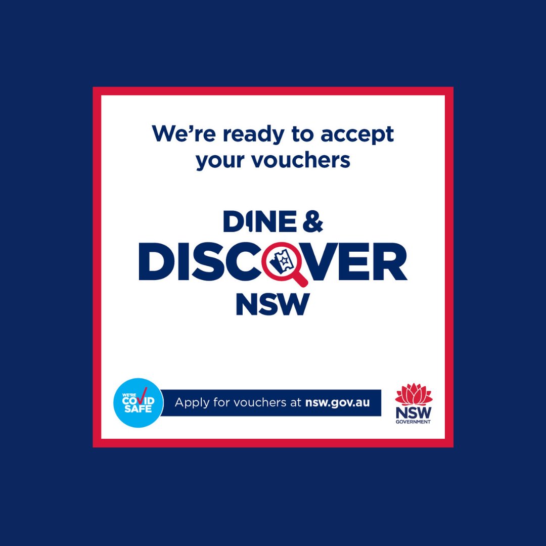Dine & Discover Vouchers are accepted at Kickin'Inn!