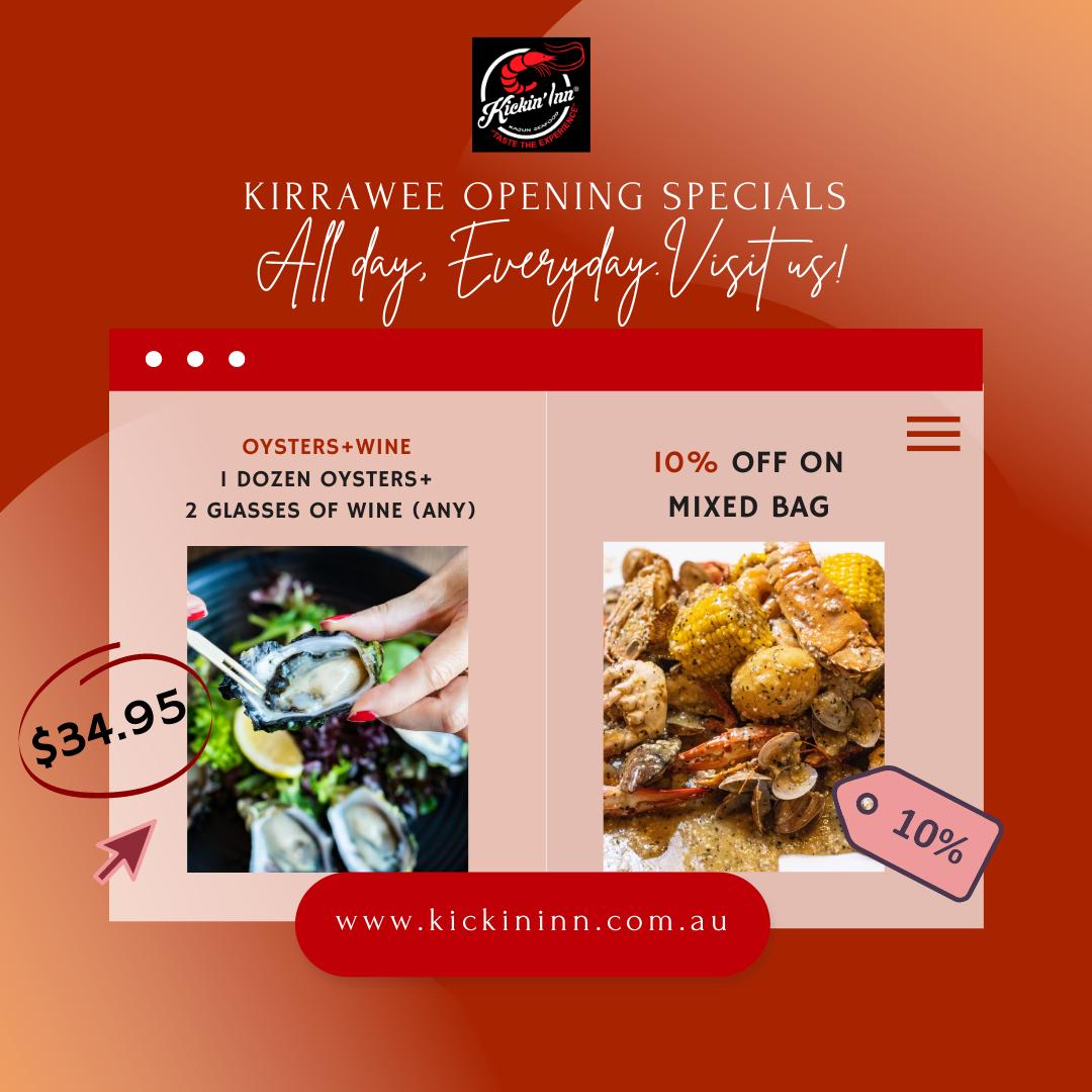 Kirrawee Opening Specials!