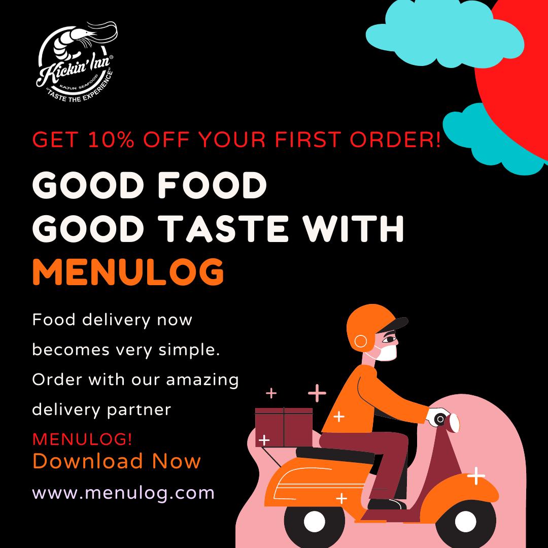 Get 10% off your first order on Menulog