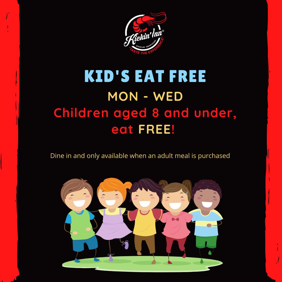 Kids Eat Free at Kickin'Inn
