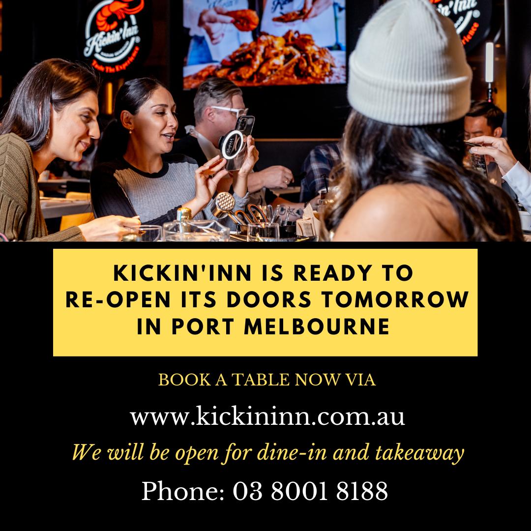 Kickin'Inn is reopening its doors tomorrow in Port Melbourne